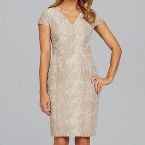 Antonio Melani | Fitted Cap Sleeve Sheath Dress